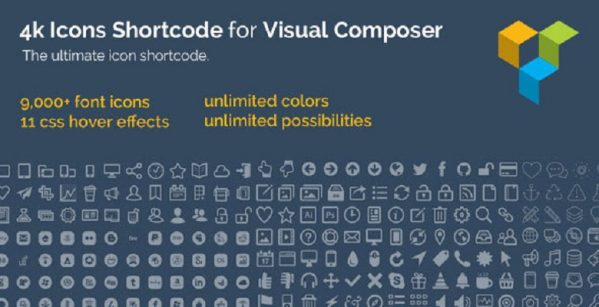 4k Icon Fonts for WPBakery Page Builder (fomerly Visual Composer)