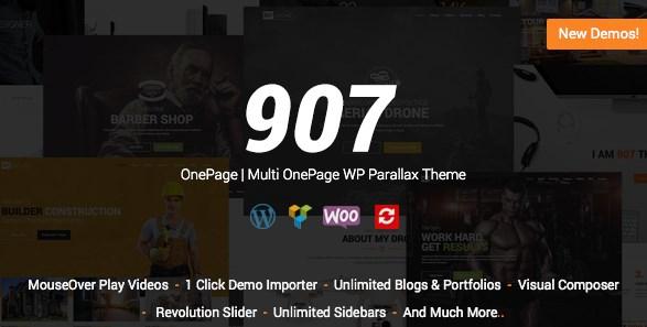 907 Responsive Multi-Purpose WordPress Theme