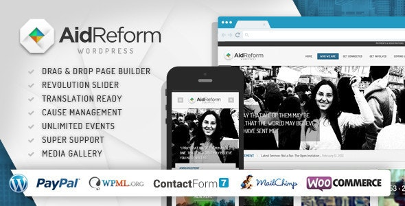 AID REFORM – NGO DONATION AND CHARITY THEME