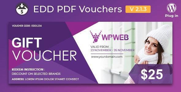 Easy Digital Downloads – PDF Vouchers