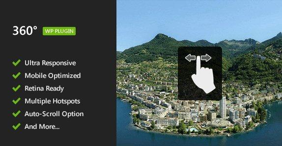 Flat 360° Panoramic Viewer WordPress Plugin