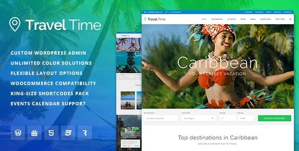 Travel Time – Tour Hotel & Vacation Travel WordPress Theme - Gpl Download