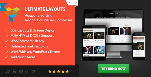Ultimate Layouts Responsive Grid – Addon For Visual Composer