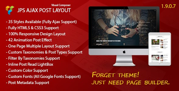 JPS Ajax Post Layout Addon For Visual Composer