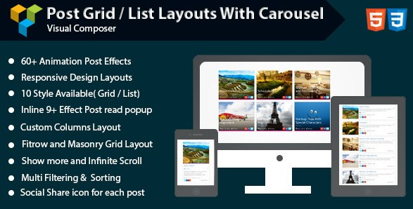 Visual Composer – Post Grid/List Layout With Carousel