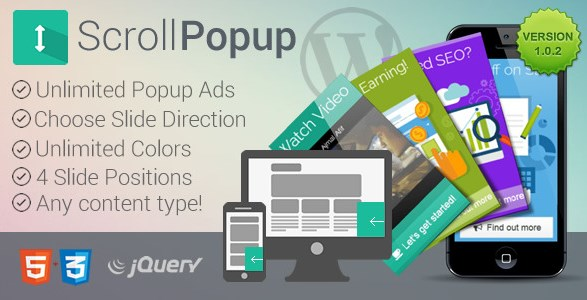 WordPress Scroll Popups Plugin - Gpl Pulse