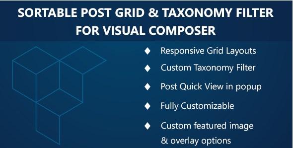 Visual Composer – Sortable Grid & TaxonomyFilter