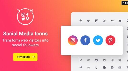 WordPress Social Media Icons Plugin - Gpl Pulse