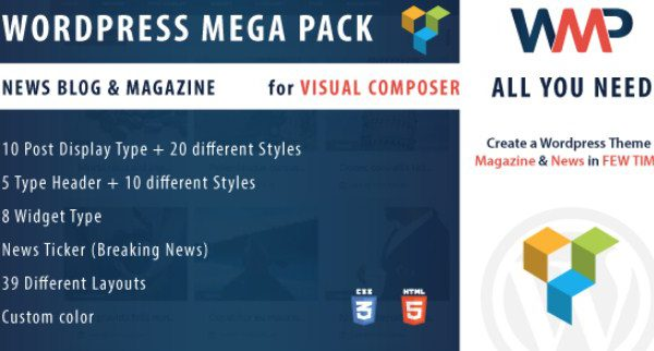 WordPress Mega Pack for Visual composer - Gpl Pulse