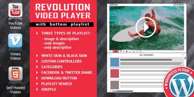 Revolution Video Player With Bottom Playlist