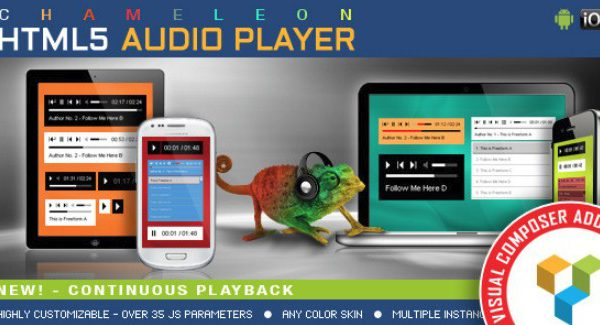 Visual Composer Addon – Chameleon Audio Player