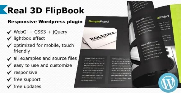 Real 3D FlipBook WordPress Plugin