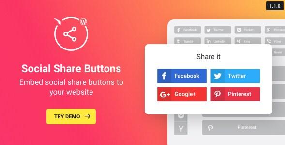 WordPress Social Share Plugin – Share Buttons - Gpl Pulse
