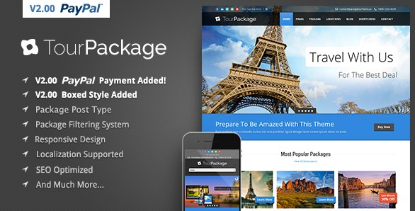 Tour Package – WordPress Travel Tour Theme - Gpl Download