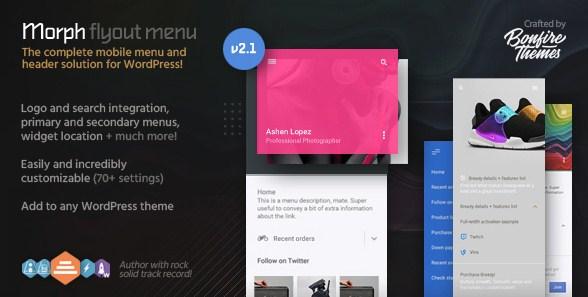 Morph – Flyout Mobile Menu for WordPress