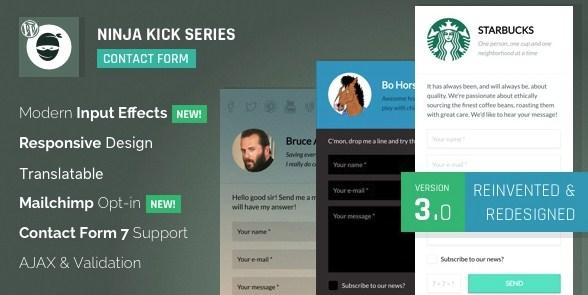 Ninja Kick – WordPress Contact Form Plugin - Gpl Pulse