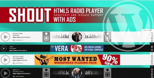 SHOUT – HTML5 Radio Player With Ads Plugin