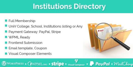 Institutions Directory WordPress Plugin