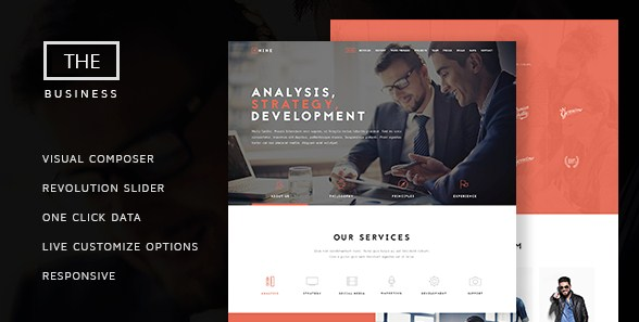 The Business – Powerful One Page Biz Theme - Gpl Download