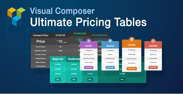 Visual Composer Ultimate Pricing Tables Add-on - Gpl Pulse