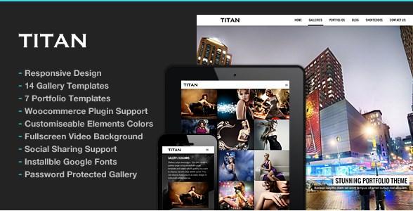 Titan – Responsive Portfolio Photography Theme - Gpl Download