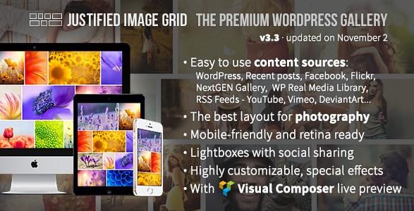 Justified Image Grid – Premium WordPress Gallery