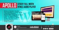 APOLLO – STICKY FULL WIDTH HTML5 AUDIO PLAYER 3.5