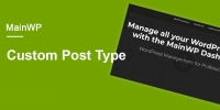 MainWP Custom Post Types Extension 4.0.2