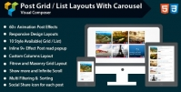 Visual Composer – Post Grid/List Layout With Carousel 1.5