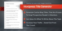 WordPress Title Generator 1.0