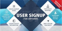 User Signup for Arforms 1.6