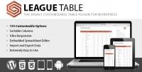 League Table WordPress Plugin 2.13
