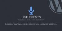 Live Events WordPress Plugin 1.25
