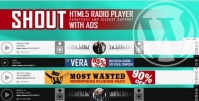 SHOUT – HTML5 Radio Player With Ads Plugin 3.4