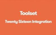 Toolset Twenty Sixteen Integration 1.4.1